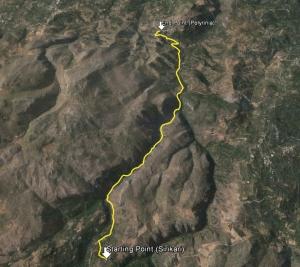 Sirikari Gorge Route Zoom